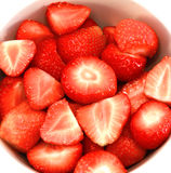 Bunke av jordgubbar i closeup Royaltyfri Foto
