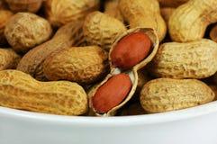 Bunke av jordnötter royaltyfri fotografi