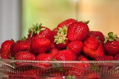 Bunke av lokalOntario jordgubbar royaltyfria foton