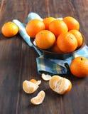 Bunke av nya mandarins Royaltyfri Foto