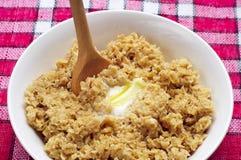 Bunke av oatsporridge Royaltyfri Bild