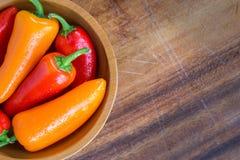 Bunke av peppar Arkivfoto