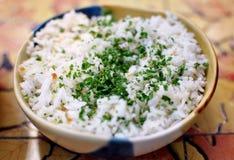 Bunke av rice royaltyfri foto