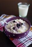 Bunke av riceporridge Royaltyfri Fotografi