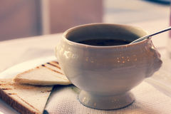 Bunke av soppa Royaltyfri Foto