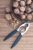Bunke av valnötter i skalen Royaltyfri Bild