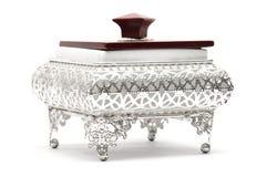 bunke dekorerad silver Royaltyfria Bilder
