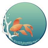 bunkefisk royaltyfri illustrationer