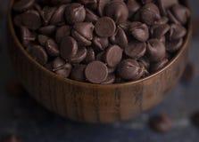 bunken chips choklad Arkivbilder