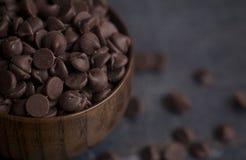 bunken chips choklad Royaltyfri Bild