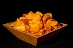 bunken chips potatisen Arkivfoto