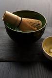 Bunken och bambu viftar Royaltyfri Foto