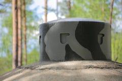 Bunker abbandonato della seconda guerra mondiale in Vaermland, Svezia È chiamato Skans 176 Dypen Fotografia Stock Libera da Diritti