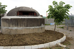 Bunker in Albania built during Hoxha`s rule to avert possible external invasion Royalty Free Stock Image