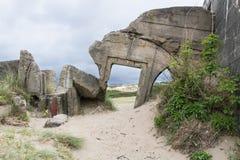 Bunker atlantico tedesco della parete - dettaglio Immagini Stock