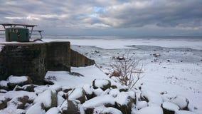 Bunker att oeresund i Höganäs i Sverige Royaltyfri Foto