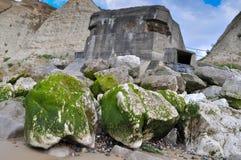 Bunker auf dem Strand Stockfotografie