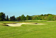 Bunker auf einem Golfplatz Stockfoto