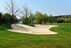 Bunker auf einem Golfplatz Lizenzfreie Stockfotografie