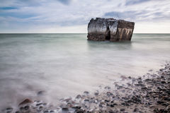 Bunker on the Baltic Sea Royalty Free Stock Image