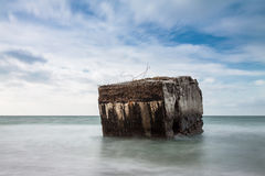 Bunker on the Baltic Sea Royalty Free Stock Photo
