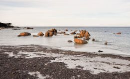 Bunker Bay Beach with Granite Rock Formations Stock Photo