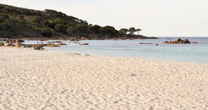 Bunker Bay Beach with Granite Rocks royalty free stock images