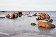 Bunker Bay: Granite in Indian Ocean Waters Stock Photos