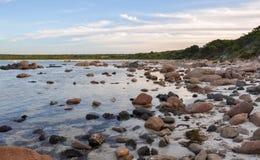 Bunker Bay: Granite in the Waters Royalty Free Stock Image