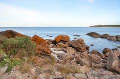 Bunker Bay, Western Australia: Orange Granite royalty free stock images