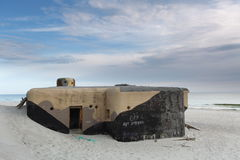 Bunker on beach Stock Image