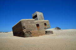 Bunker on the beach. Ruin bunker on the beach in Andalucia,Spain Stock Images
