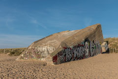 Bunker on the beach Royalty Free Stock Photo