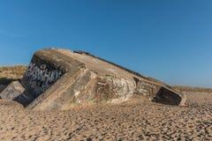 Bunker on the beach Stock Photo