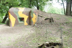 Bunker on border line between Czech republic and Austria near Lednice Royalty Free Stock Image