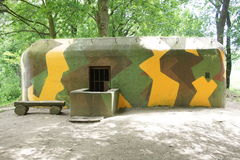 Bunker on border line between Czech republic and Austria. Reconstruct bunker on border line between Czech republic and Austria Royalty Free Stock Photo
