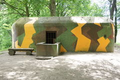 Bunker on border line between Czech republic and Austria. Renovate bunker on border line between Czech republic and Austria Royalty Free Stock Photos