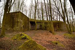 Bunker Clingendael. A huge German bunker in the woods of Clingendael Royalty Free Stock Photos