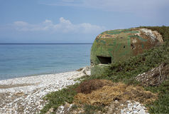 Bunker on the coast Royalty Free Stock Images