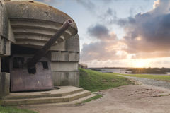 Bunker on the coastline, Gold Beach Stock Photography