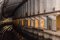 Bunker from Cold War, object an underground submarine base stock photography
