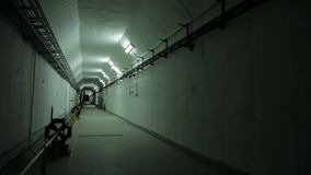 The bunker in the Collider. Turns on the light stock video footage