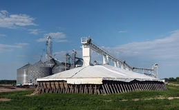 Bunker Cover on Surplus Grain Royalty Free Stock Photo