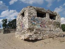 Bunker in der Wüste Bledowska Stockbild