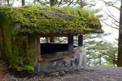 Bunker des Zweiten Weltkrieges in Alaska lizenzfreie stockfotos