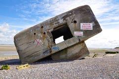 Bunker di seconda guerra mondiale del tedesco Fotografia Stock Libera da Diritti