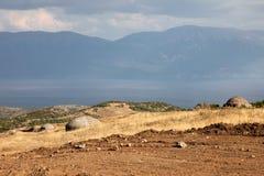 Bunker difensivo, Albania fotografia stock libera da diritti