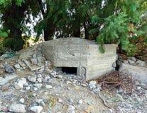 Bunker distrutto in Kos Grecia Fotografie Stock