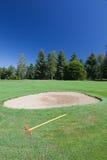 Bunker in een golfcursus. Stock Afbeelding