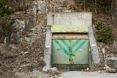Bunker entrance Royalty Free Stock Photography